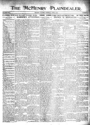 McHenry Plaindealer (McHenry, IL), 9 Jun 1910