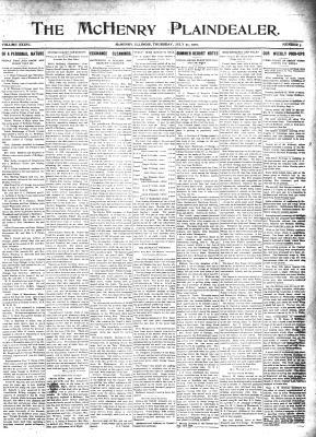 McHenry Plaindealer (McHenry, IL), 21 Jul 1910
