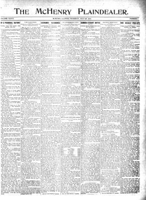 McHenry Plaindealer (McHenry, IL), 28 Jul 1910