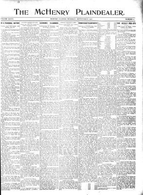McHenry Plaindealer (McHenry, IL), 8 Sep 1910