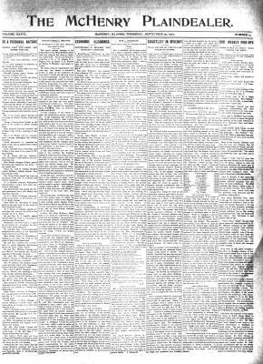 McHenry Plaindealer (McHenry, IL), 15 Sep 1910