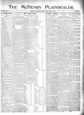 McHenry Plaindealer (McHenry, IL), 22 Sep 1910