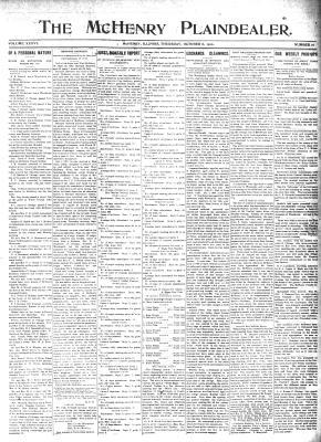 McHenry Plaindealer (McHenry, IL), 6 Oct 1910