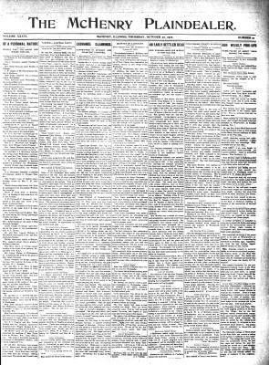 McHenry Plaindealer (McHenry, IL), 27 Oct 1910