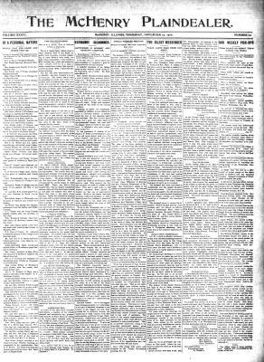 McHenry Plaindealer (McHenry, IL), 17 Nov 1910