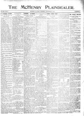 McHenry Plaindealer (McHenry, IL), 8 Dec 1910