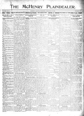 McHenry Plaindealer (McHenry, IL), 22 Dec 1910