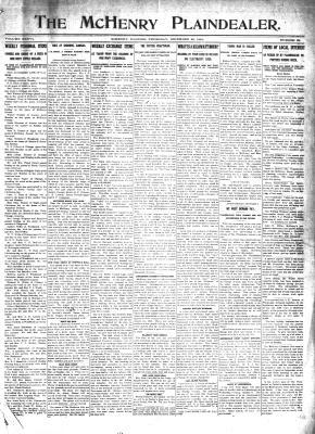 McHenry Plaindealer (McHenry, IL), 29 Dec 1910