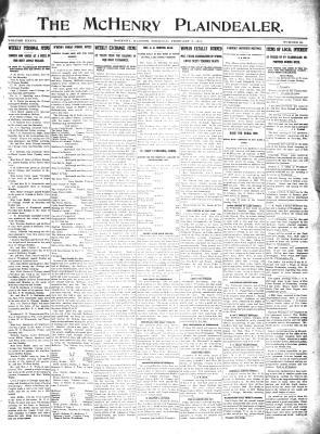 McHenry Plaindealer (McHenry, IL), 2 Feb 1911