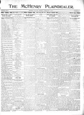McHenry Plaindealer (McHenry, IL), 16 Feb 1911