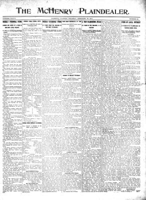 McHenry Plaindealer (McHenry, IL), 23 Feb 1911