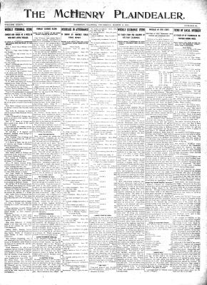 McHenry Plaindealer (McHenry, IL), 9 Mar 1911