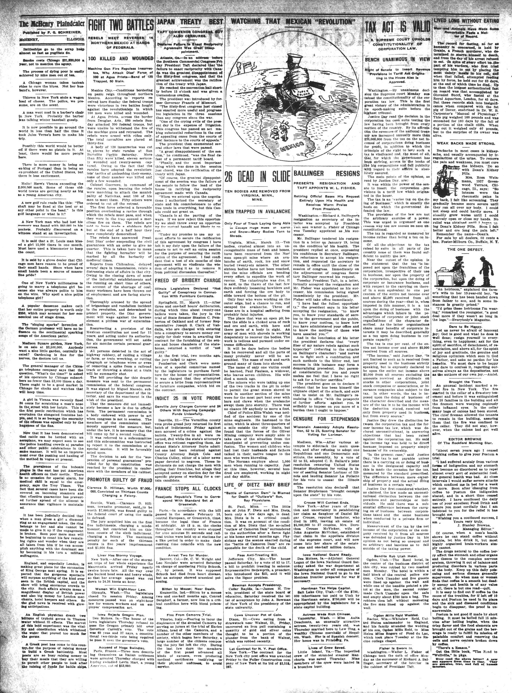 McHenry Plaindealer (McHenry, IL), 16 Mar 1911
