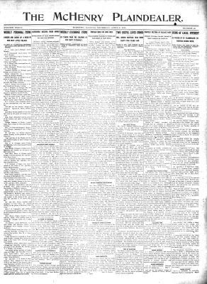 McHenry Plaindealer (McHenry, IL), 6 Apr 1911