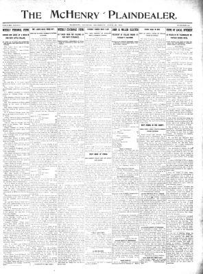 McHenry Plaindealer (McHenry, IL), 20 Apr 1911