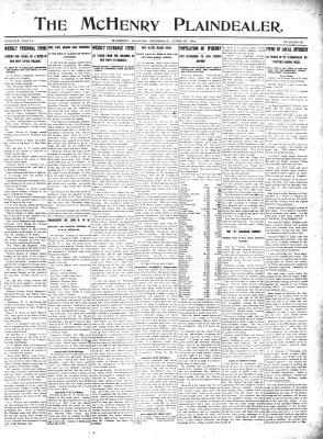 McHenry Plaindealer (McHenry, IL), 27 Apr 1911