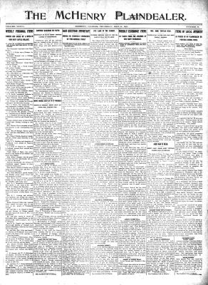 McHenry Plaindealer (McHenry, IL), 11 May 1911