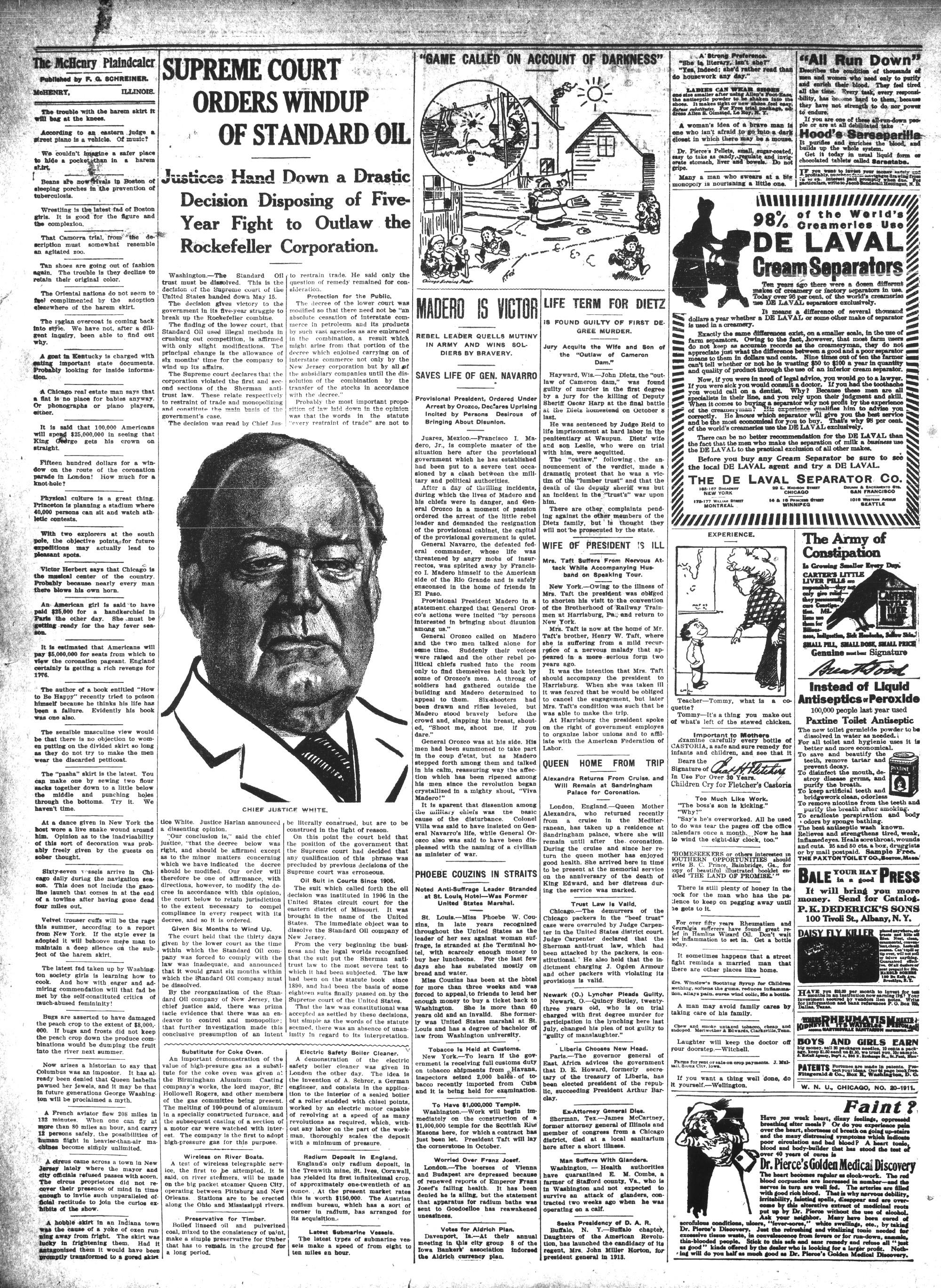 McHenry Plaindealer (McHenry, IL), 18 May 1911