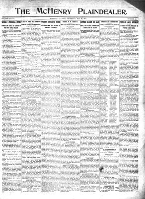 McHenry Plaindealer (McHenry, IL), 25 May 1911