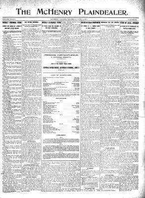 McHenry Plaindealer (McHenry, IL), 1 Jun 1911