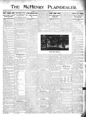 McHenry Plaindealer (McHenry, IL), 6 Jul 1911