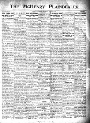 McHenry Plaindealer (McHenry, IL), 17 Aug 1911
