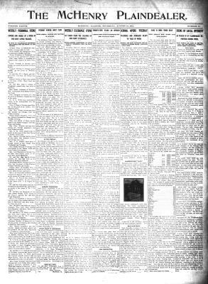 McHenry Plaindealer (McHenry, IL), 31 Aug 1911