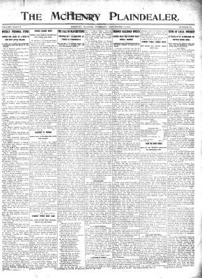 McHenry Plaindealer (McHenry, IL), 14 Sep 1911