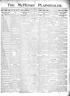 McHenry Plaindealer (McHenry, IL), 19 Oct 1911