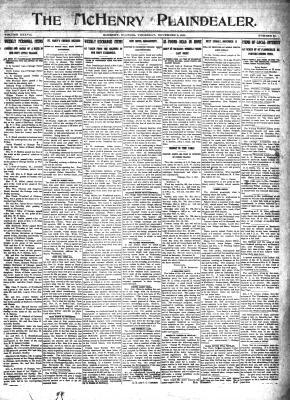 McHenry Plaindealer (McHenry, IL), 9 Nov 1911