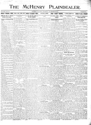 McHenry Plaindealer (McHenry, IL), 23 Nov 1911