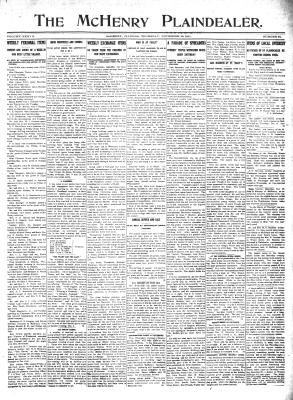 McHenry Plaindealer (McHenry, IL), 30 Nov 1911