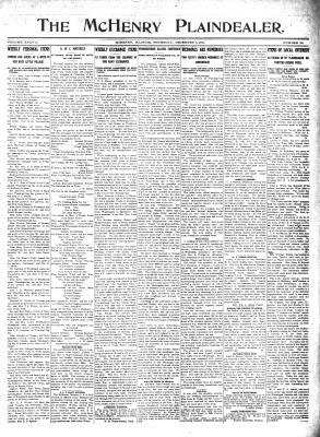 McHenry Plaindealer (McHenry, IL), 7 Dec 1911