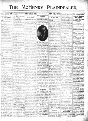McHenry Plaindealer (McHenry, IL), 8 Feb 1912