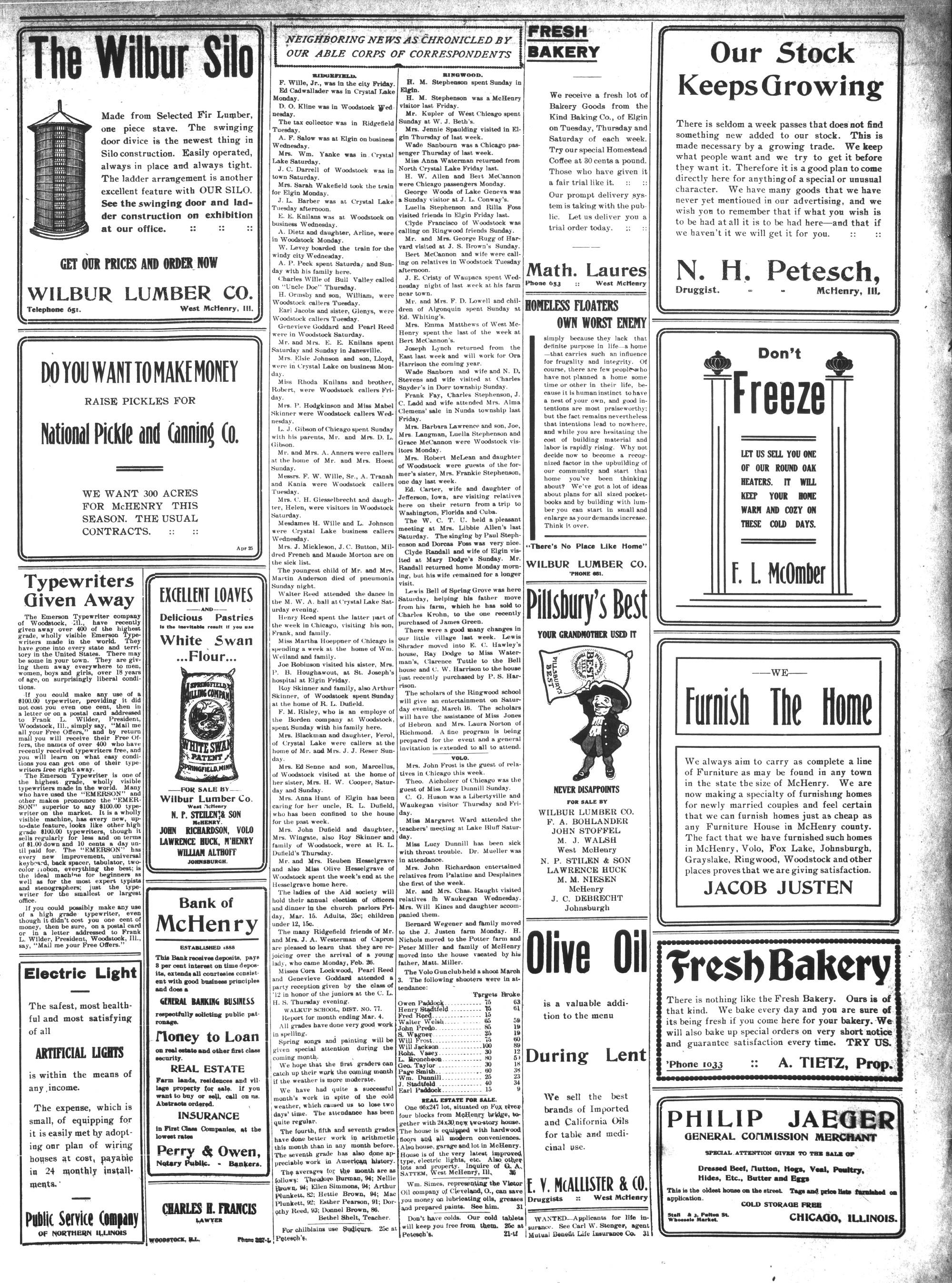 McHenry Plaindealer (McHenry, IL), 7 Mar 1912