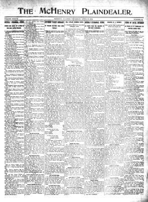 McHenry Plaindealer (McHenry, IL), 18 Apr 1912