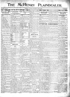 McHenry Plaindealer (McHenry, IL), 2 May 1912