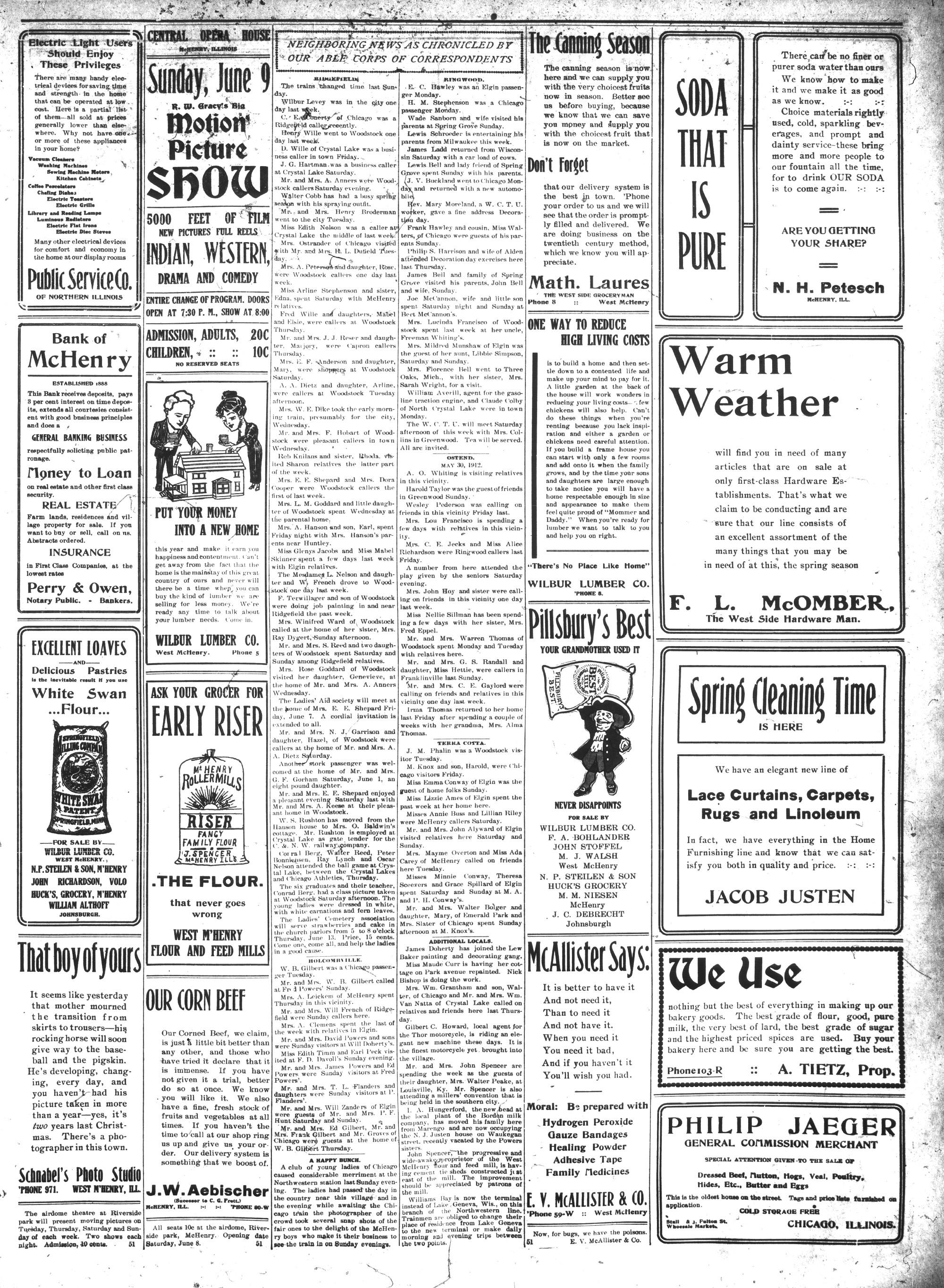 McHenry Plaindealer (McHenry, IL), 6 Jun 1912