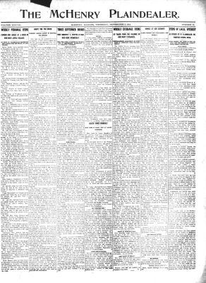 McHenry Plaindealer (McHenry, IL), 5 Sep 1912
