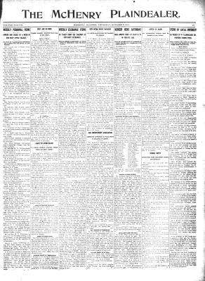 McHenry Plaindealer (McHenry, IL), 3 Oct 1912