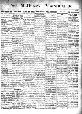 McHenry Plaindealer (McHenry, IL), 31 Oct 1912
