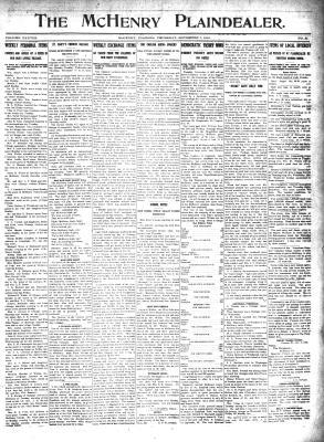 McHenry Plaindealer (McHenry, IL), 7 Nov 1912