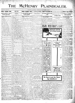 McHenry Plaindealer (McHenry, IL), 28 Nov 1912