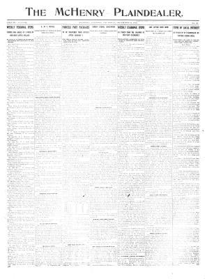 McHenry Plaindealer (McHenry, IL), 12 Dec 1912