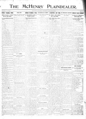 McHenry Plaindealer (McHenry, IL), 9 Jan 1913
