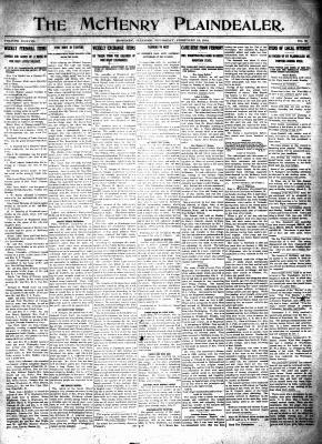 McHenry Plaindealer (McHenry, IL), 13 Feb 1913
