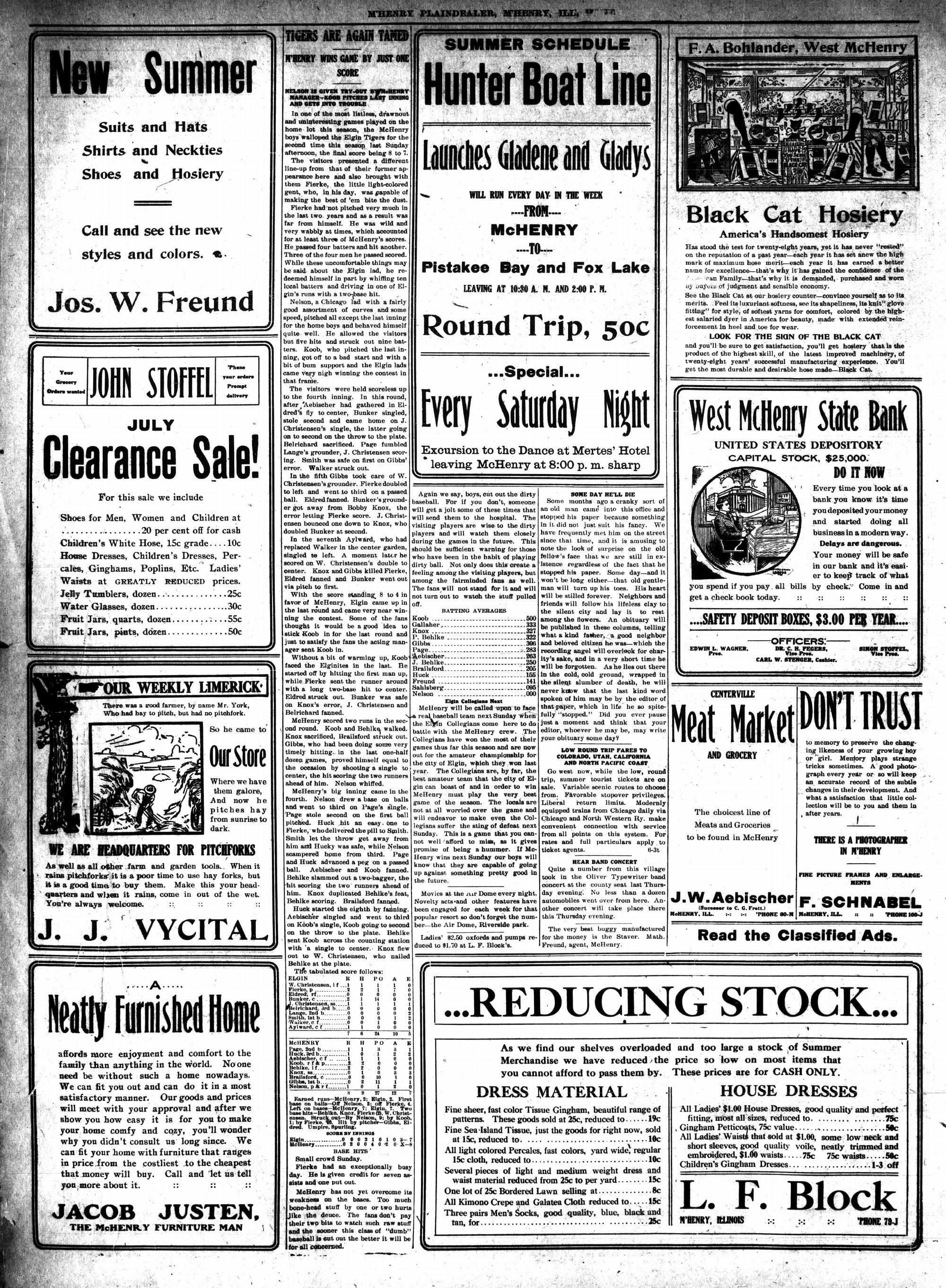 McHenry Plaindealer (McHenry, IL), 31 Jul 1913