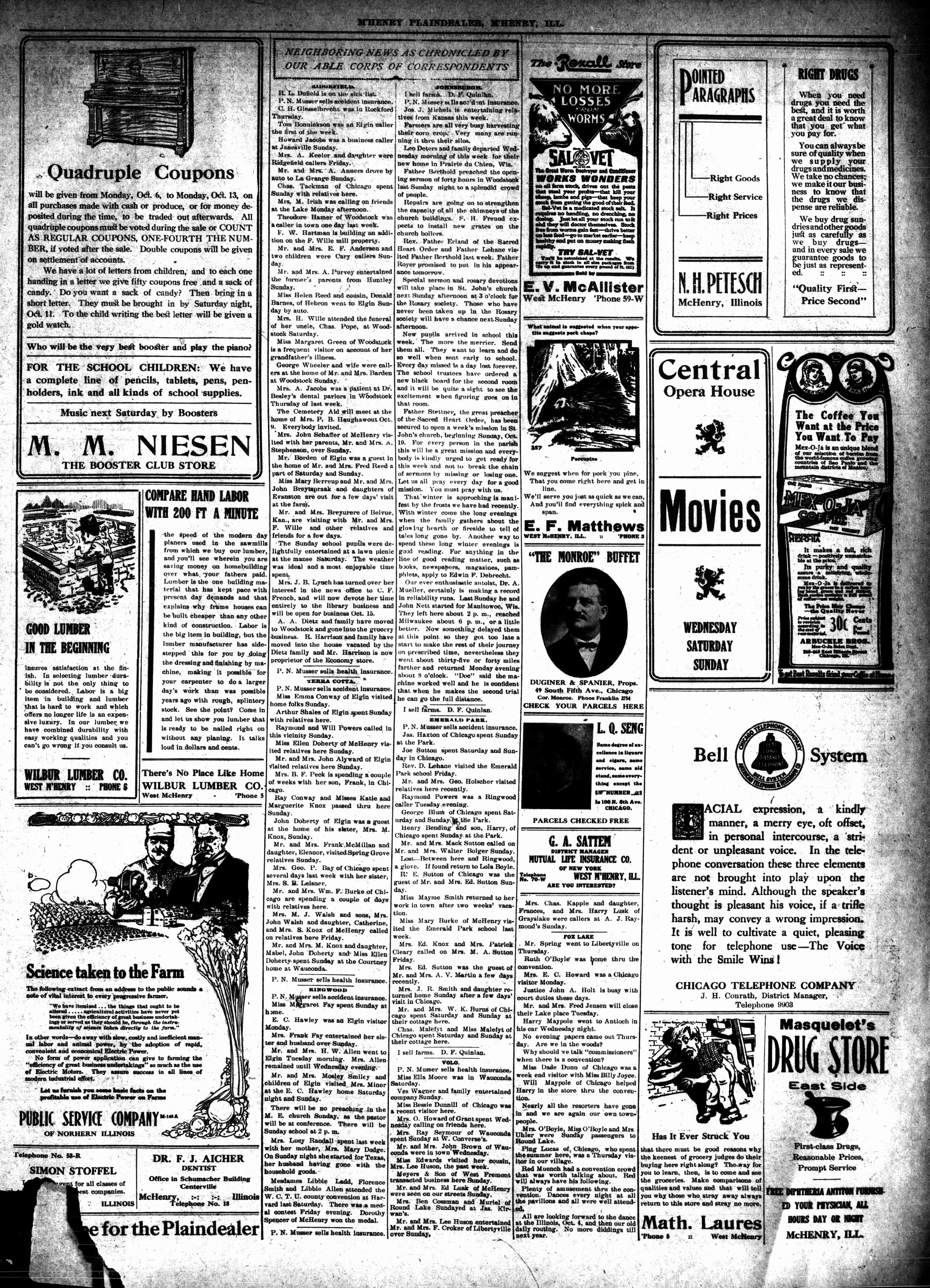 McHenry Plaindealer (McHenry, IL), 2 Oct 1913