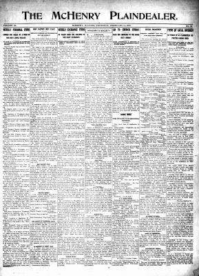 McHenry Plaindealer (McHenry, IL), 11 Feb 1915
