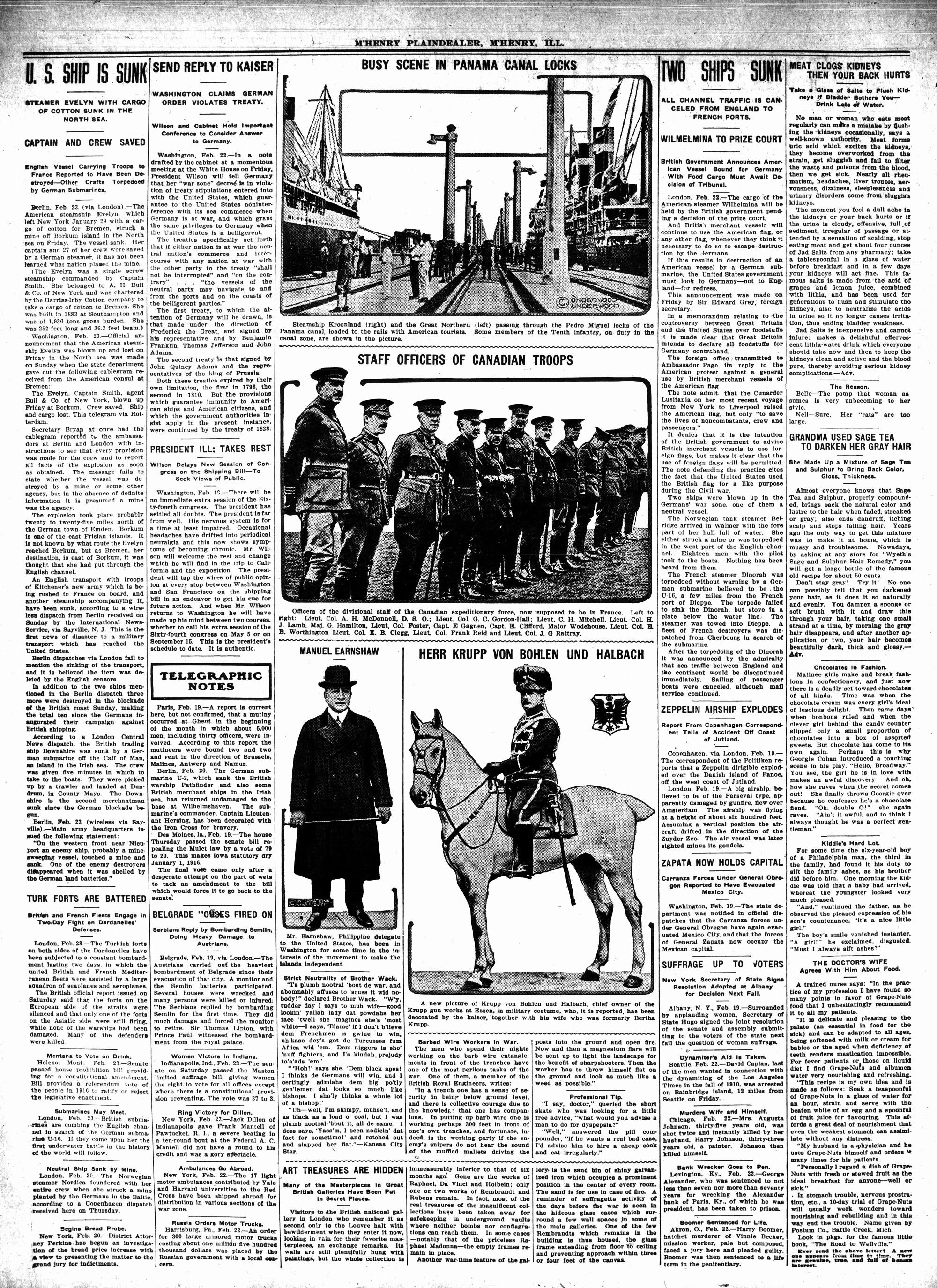 McHenry Plaindealer (McHenry, IL), 25 Feb 1915